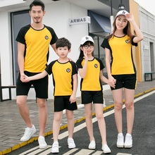 Active Family Set Mother Daughter Father Son Mommy and Me Clothes Parent-Child Clothing Sets Family Matching Outfits Look QY недорого