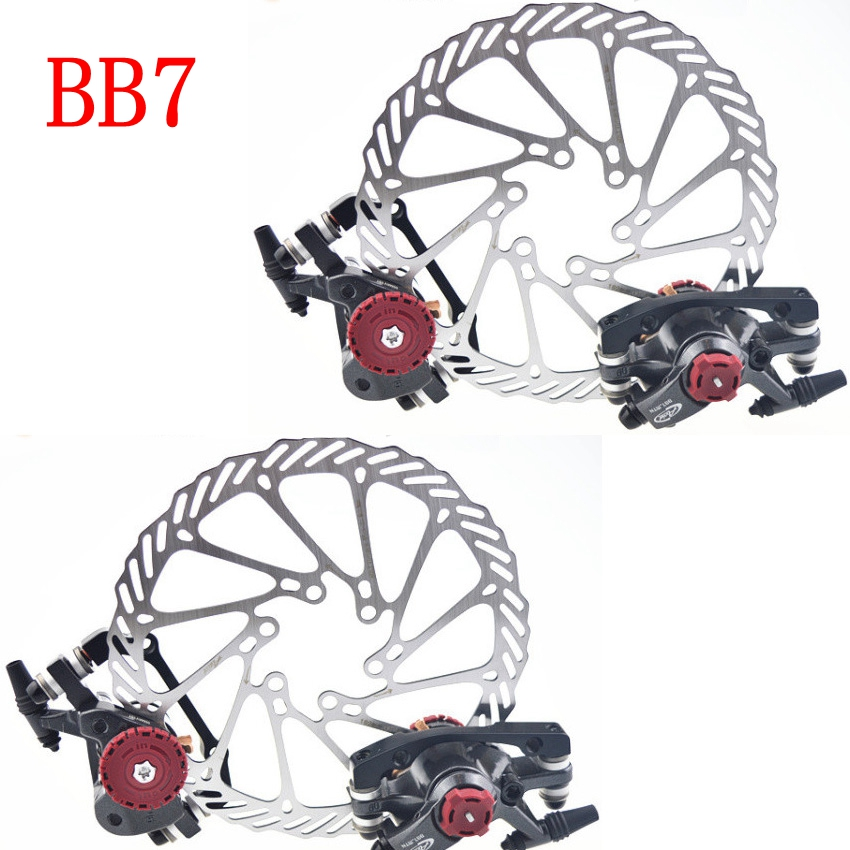 Bike Brake Disc FR7 Avid BB7 Mountain/MTB Road Bicycle Brakes pads V Front Rear HS1 G3 160/180mm rotor Bicycle parts 2018 aluminum mountain road bicycle disc brakes w rotors black front rear