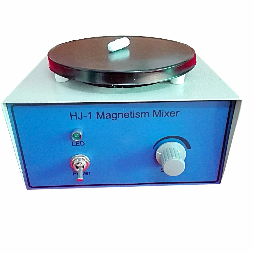 HJ-1 Laboratory Magnetic Stirrer Plate 2400RPM,Magnetism Mixer,1000ml Volume ,with Magnetic Stir bars,220v/110v free shipping 7 15 mm ptfe magnetic stirrer mixer stir bar with pivot ring white color