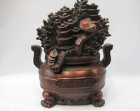 bi001781 Chinese Bronze Copper Fengshui Ruyi Yuanbao Wealth Good luck treasure bowl|bowl|bowl copper|  -