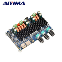 Aiyima TPA3116 Audio Amplifier Board Amplificador 2 1 Channel Digital Bluetooth Amplifier Board 50W 50W 100W
