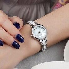 Famoso KIMIO K450L Marca Mujer Reloj Reloj de Vestir de Moda de Señora Acero Lleno Rhinestone de Cuarzo Reloj de pulsera de Alta Calidad Reloj de Cristal