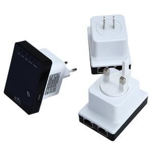 Image 4 - אלחוטי WiFi נתב Wifi מהדר 300Mbps אות Booster Dual LAN יציאת 802.11n/ b/g Wifi טווח אות expander מגבר
