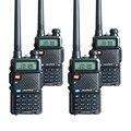 4 ШТ. Baofeng УФ-5R Walkie Talkie Радио Двухстороннее Pofung УФ-5R 128CH UHF VHF FM VOX Радио