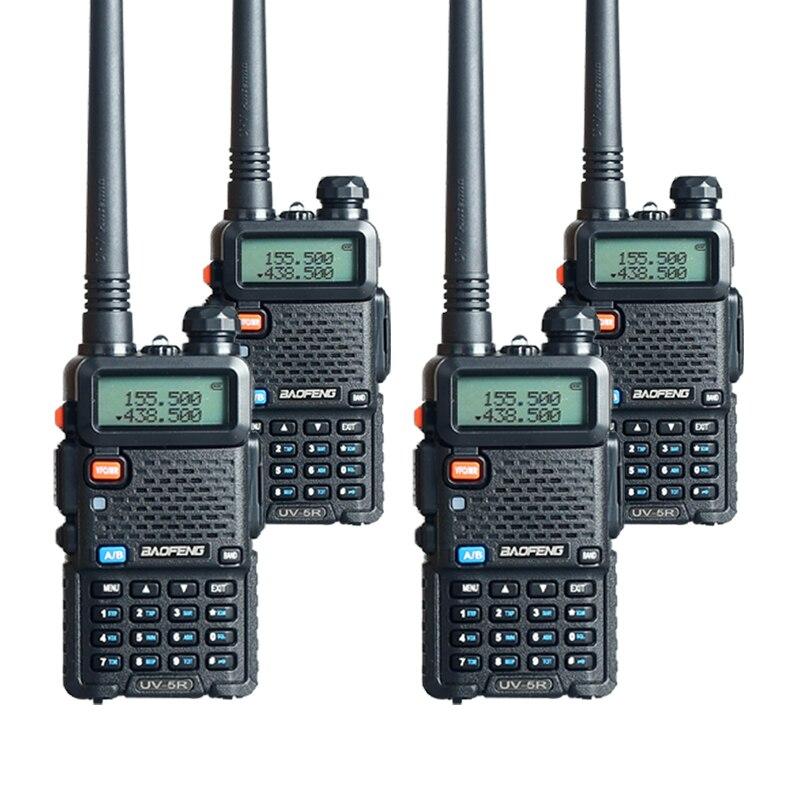 4pcs baofeng uv 5r walkie talkie radios two way pofung uv 5r 128ch uhf vhf fm vox radio in. Black Bedroom Furniture Sets. Home Design Ideas