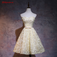 28e87cd1b745c Sexy Yellow Short Homecoming Dresses 8th Grade Prom Dresses Junior High  Cute Graduation Formal Dresses Mezuniyet