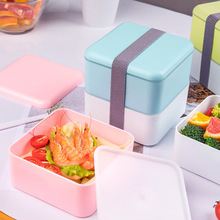 1200ml Double Layer Lunch Box Large Capacity Microwave Oven Lunch Bento Boxes Dinnerware Lunch Box Kitchen Accessories large capacity microwave lunch box with spoon