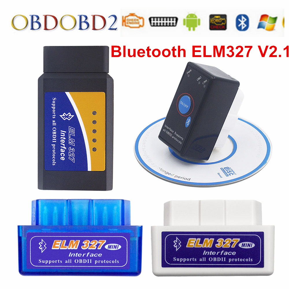 Super Mini ELM327 V2.1 Bluetooth OBD2 Auto Car Code Scanner ELM 327 V2.1 For Android Torque/PC/Symbian OBD2 ELM327 Bluetooth