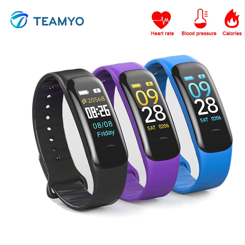 Teamyo Smart Fitness Bracelet Heart Rate Monitor Blood Pressure Fitness Tracker Smart band Wristband for Andriod IOS xiaomi