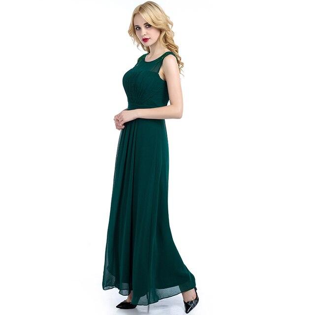 Neue Ankunft Brautjungfer Kleid Bodenlangen Eine Linie Grüne Lange ...