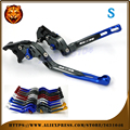 For SUZUKI GSR750 GSR600 GSR 06-15 RACING CNC RED  Free shipping  Adjustable Motorcycle Folding Extendable Brake Clutch Lever