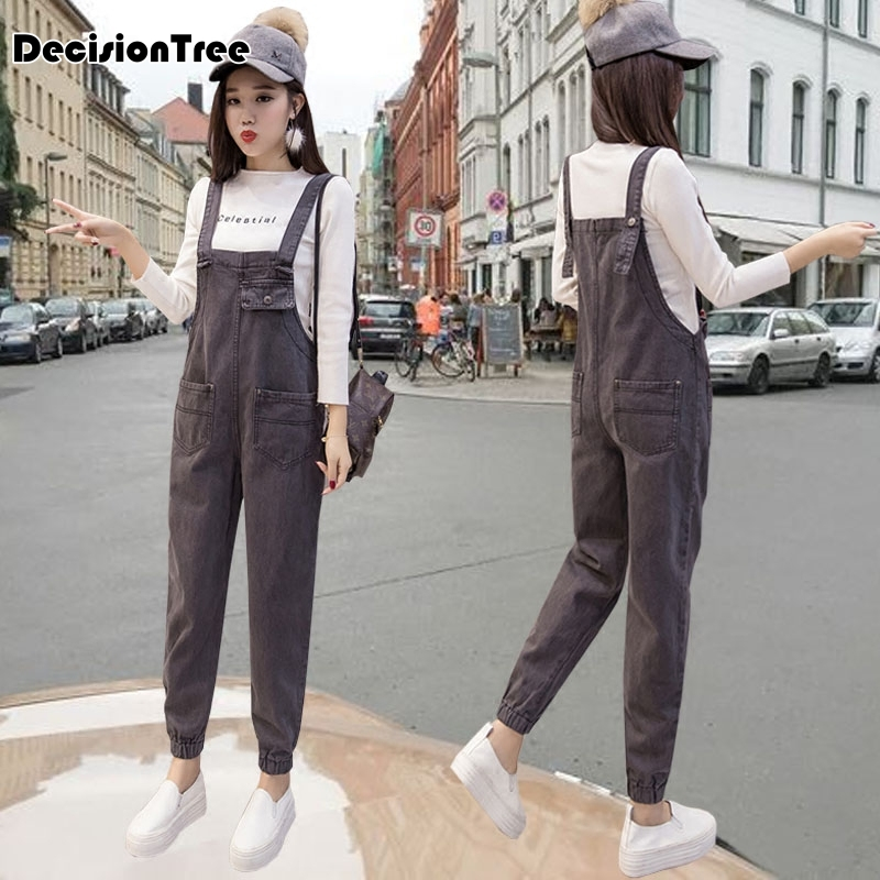 2019 new womens bodycon jumpsuit jeans denim rompers bib overalls trousers pants 2