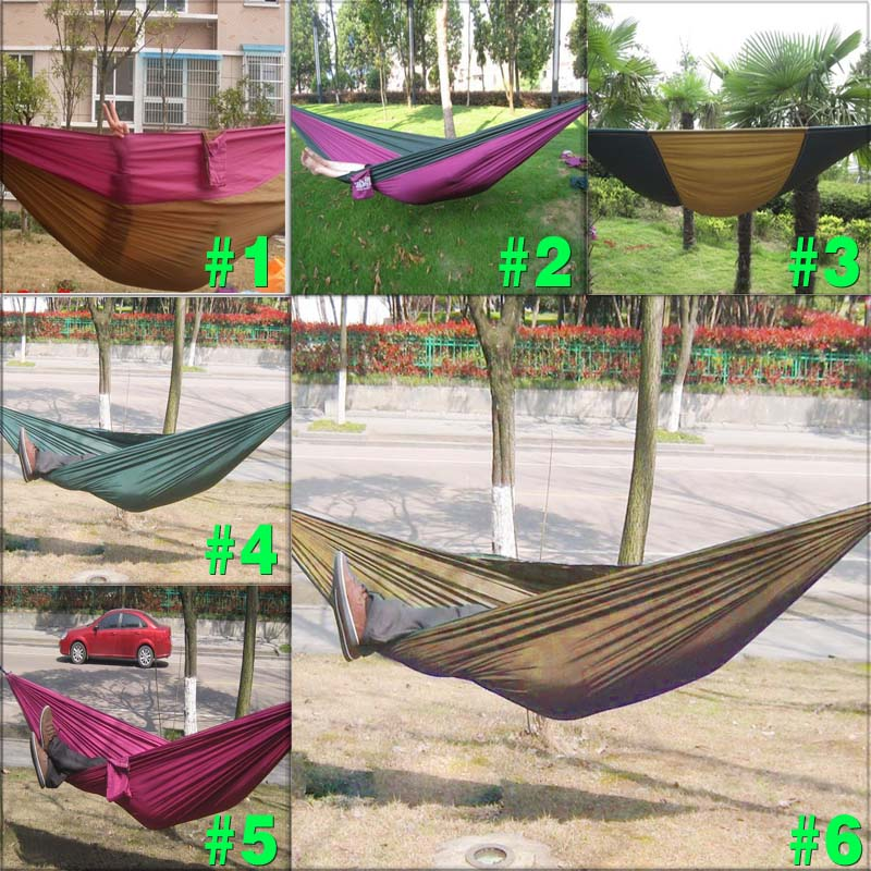 New Parachute Nylon Fabric Hammock Ground Cloth for Two Person Travel Camping 2 people portable parachute hammock outdoor survival camping hammocks garden leisure travel double hanging swing 2 6m 1 4m 3m 2m