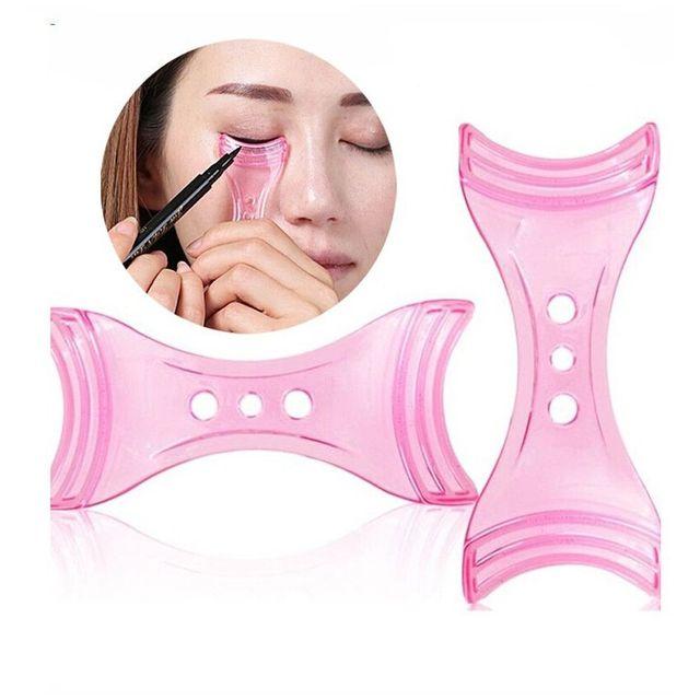 1 Pc 2020 Draw Eye Liners Guide Card  Pink Eyeliner Model Makeup Eye Helper Device Tool Mold Eyeliner Guide Makeup Tool 3