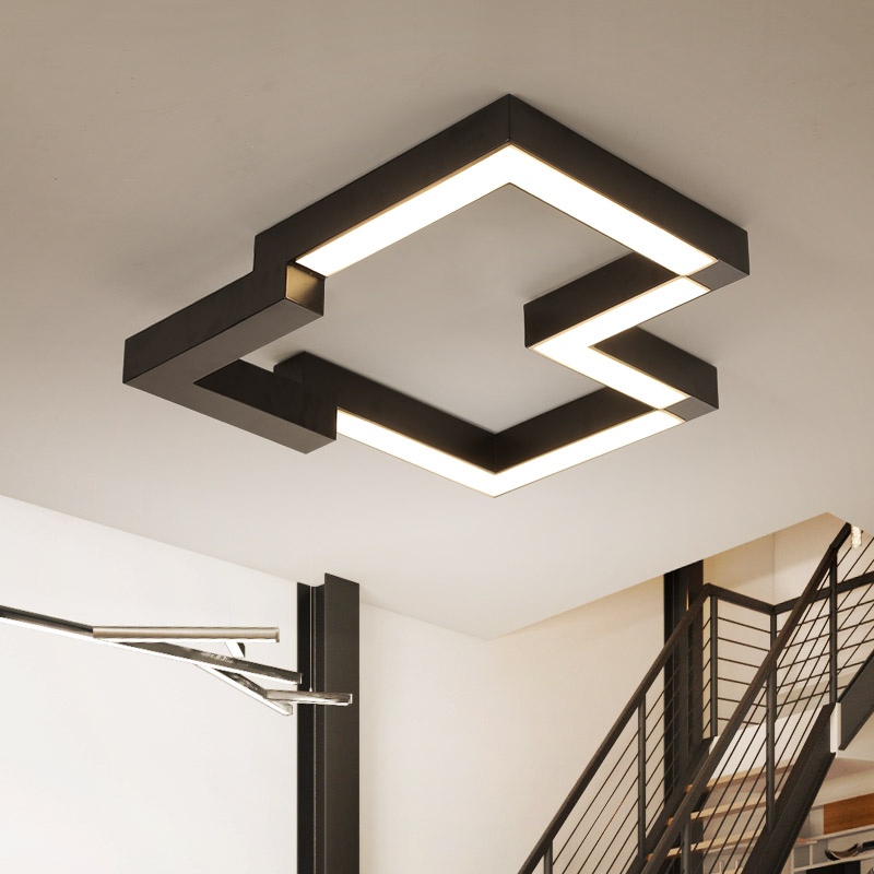 Modern iron LED ceiling lights home living room lamp creative fixtures ceiling lamps children bedroom Ceiling