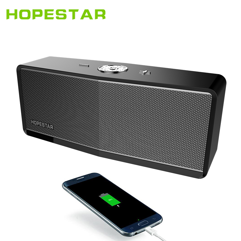 HOPESTAR H6Plus Portable Bluetooth Speaker Wireless Soundbar Dual Bass Stereo Support Box Music Subwoofer MP3 Parlantes Speakers