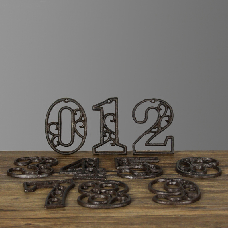 Antique Style Home Garden Decor Cast Iron Numbers|Figurines & Miniatures|Home & Garden - title=