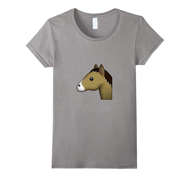 81fdf9d2e6a40 Horse Emoji T-Shirt Animal Zoo Ride Compete Race Fashion Personality Women  Fashion Brand Korean Kawaii T Shirt Femme