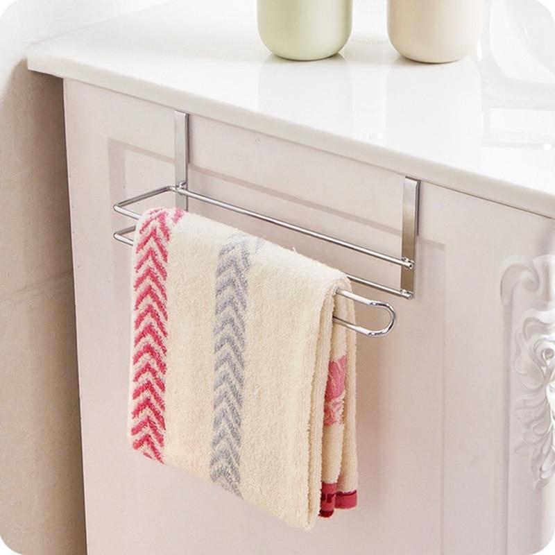 Stainless <font><b>Steel</b></font> Kitchen Tissue Holder Hanging Bathroom Toilet Roll Paper Holder <font><b>Towel</b></font> Rack Kitchen Cabinet Door Hook Holder