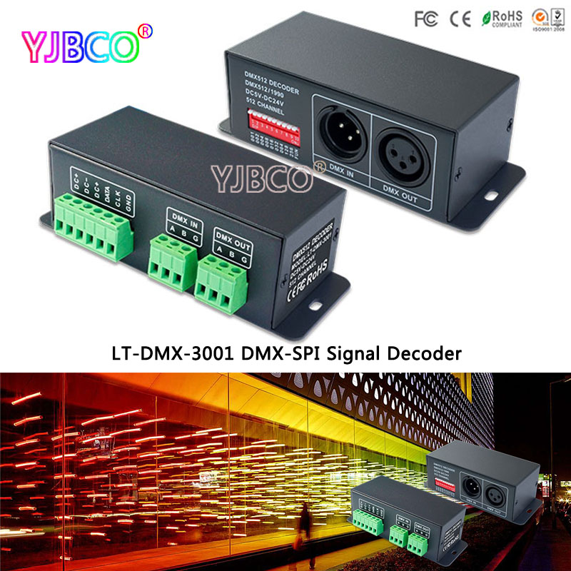 led controller LT-DMX-3001 DMX-SPI Decoder;support TLS3001, TLS3002 driving IC цена