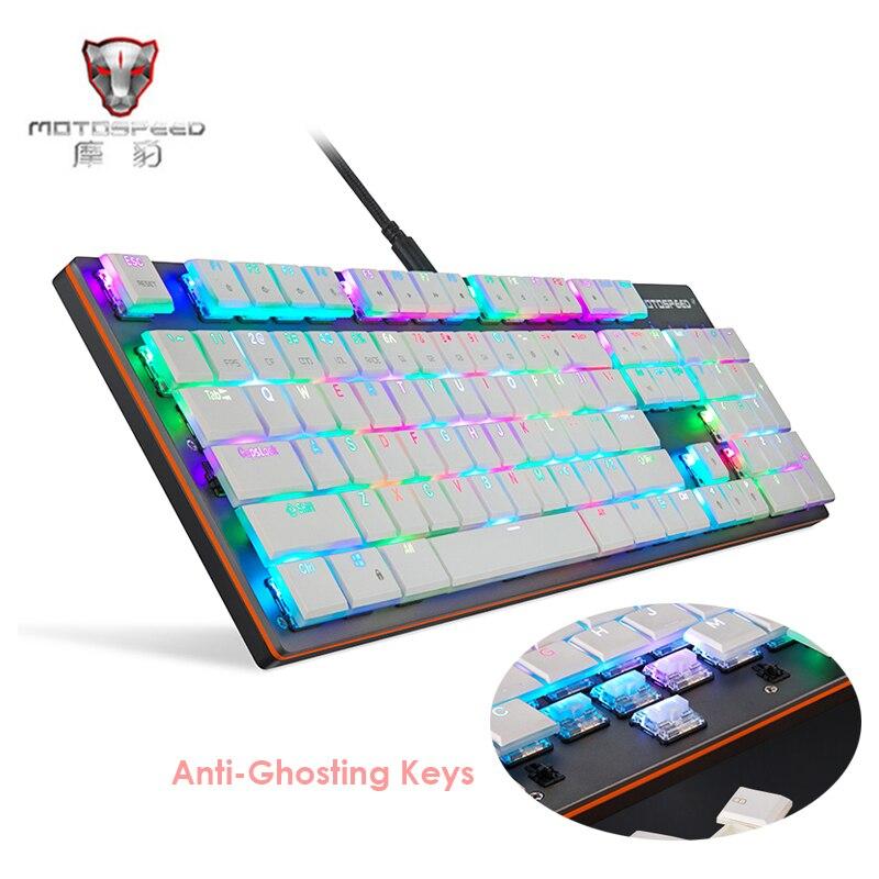 MOTOSPEED CK94 clavier mécanique filaire 104 touches boîte Kailh commutateurs bleus touches complètes clavier de jeu Anti-fantôme pour pc de bureau