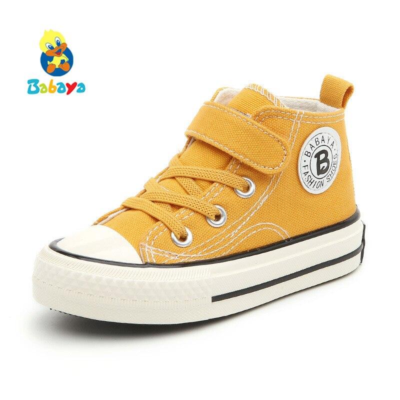 Los niños zapatos de lona de las zapatillas de deporte de alta zapatos Breathble 2018 primavera otoño nueva moda niños pequeños zapatos casuales zapatos de niño