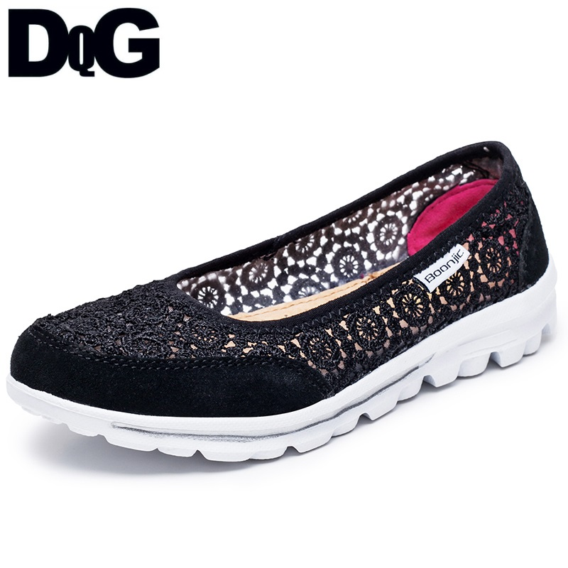 DQG 2018 Spring Women Shoes Casual Ballet Flats Zapatos Mujer Solid Slip On Ladie Shoes Breathable Shallow Chaussures Femme все цены