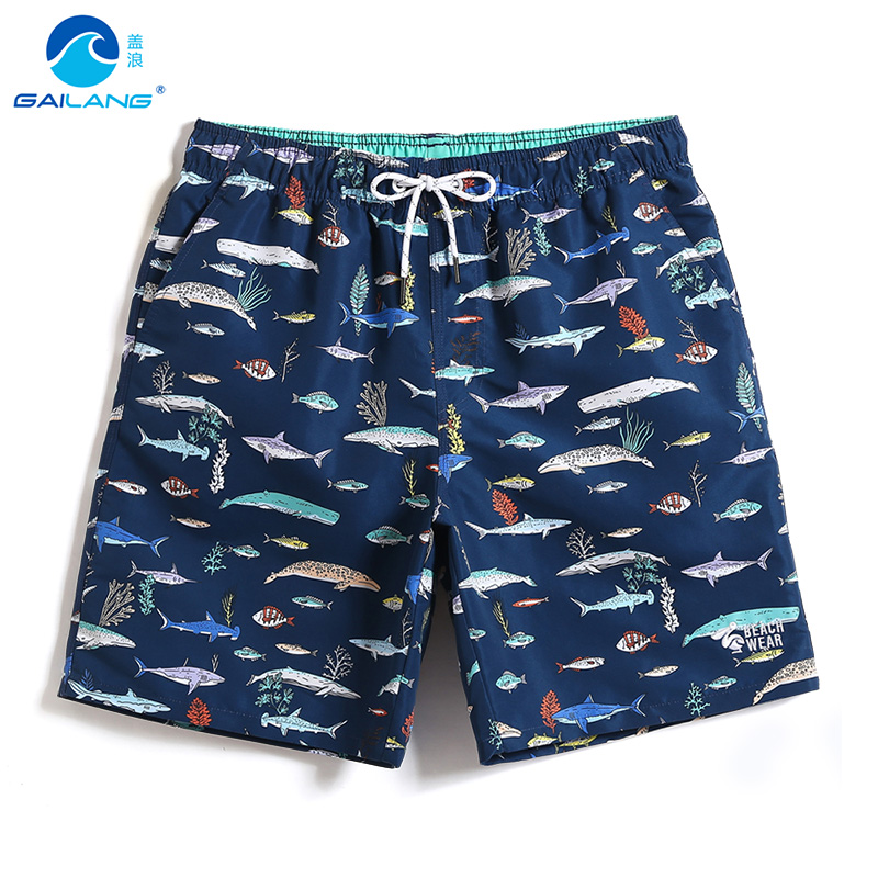 Men's   Board     shorts   swimsuit quick dry surfing joggers hawaiian plavky briefs liner sexy beach   shorts   fitness printed mesh