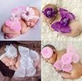 2017 Colorido Bebê Bebe Roupas de Menina Recém-nascidos Headband Infantil + Conjunto de Roupas Headbands Pena Asa + Hot Asas Adereços Fotografia