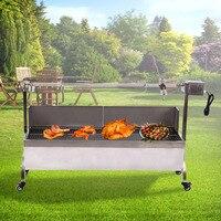 46 Inch Barbecue Roaster Spit Rotisserie BBQ Grill Roast Lamb Chicken Pig skewer rotisserie