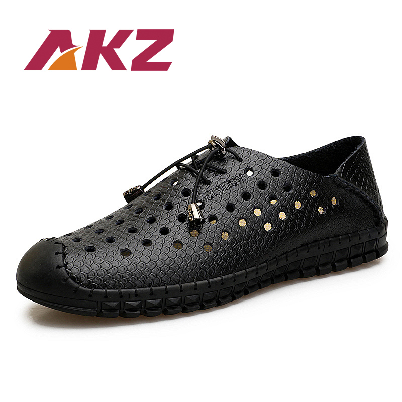AKZ Man Casual shoes 2018 New Style Summer loafers Air mesh Bernapas - Sepatu Pria - Foto 1
