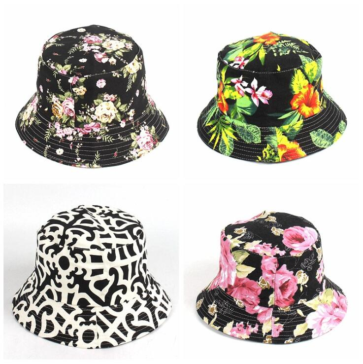 22 designer blomma Bucket Hat för kvinnor mode sommar utomhus - Kläder tillbehör