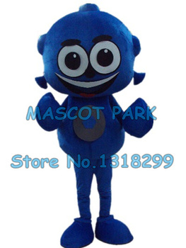 青エイリアンマスコット衣装カスタム漫画のキャラクターcosplyカーニバル衣装2989