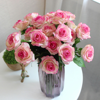 11pcs Set Fresh Rose Real Touch Artificial Flowers Rose Flowers Home Decorations For Wedding Party Or