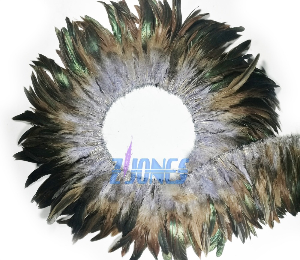 "Free Shipping! 900pcs/Bundle Grey  color Natural Hackle Saddle Feathers  ,5-7"" rooster tail feather Strung for Decoration"