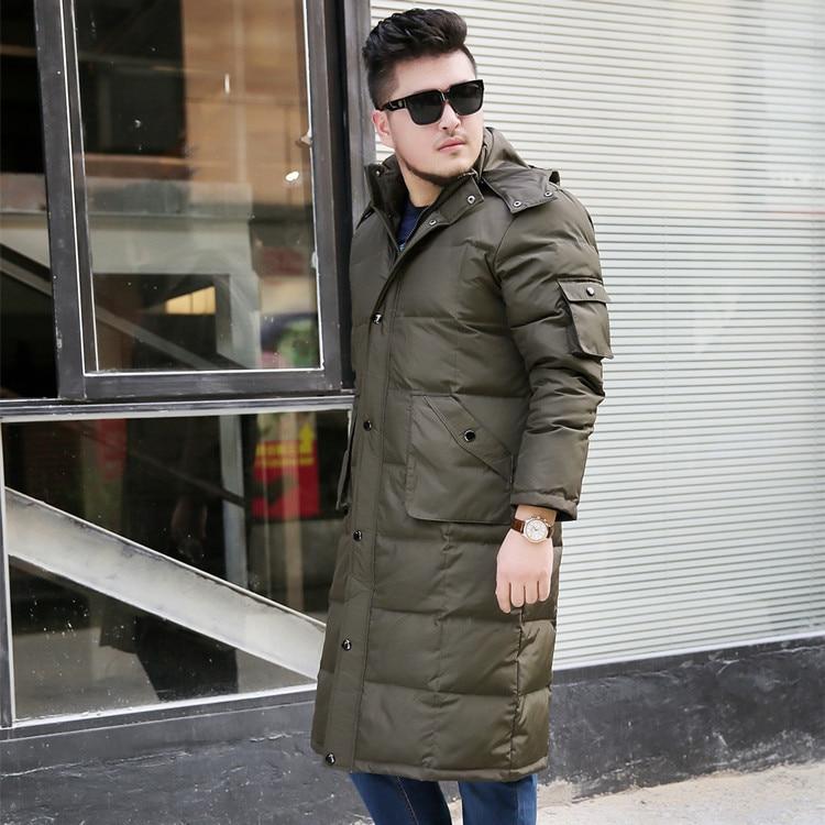 Nouveau manteau d'hiver hommes long doudoune grande taille 6XL 7XL 8XL 9XL 10XL blanc canard doudoune et manteaux mâle chaud pardessus