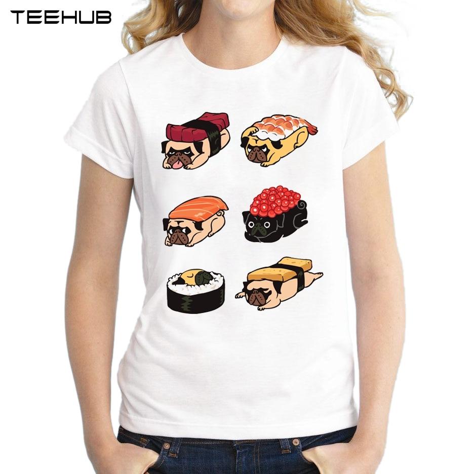 Buy Sushi Pug Women T Shirts Cute Food