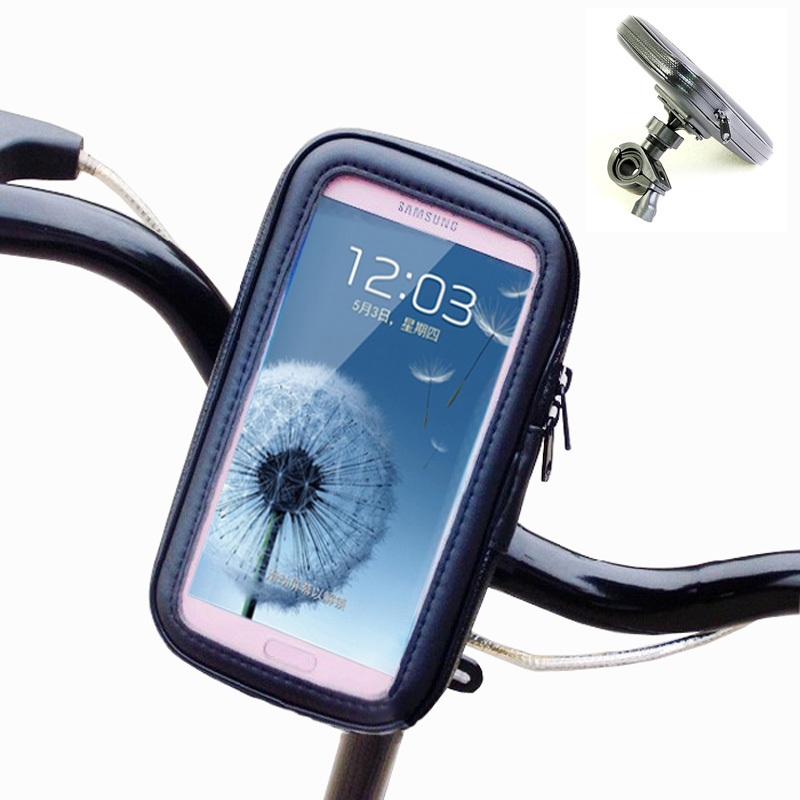 Bike Bicycle Motorcycle Phone Pouch Waterproof Case Bag Handlebar Mount Holder For Samsung I9300 Galaxy SIII