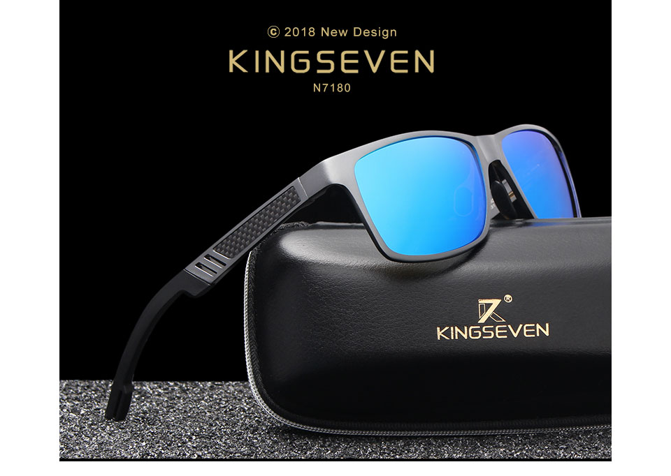 HTB1vcUkognH8KJjSspcq6z3QFXaK - KINGSEVEN Men Polarized Sunglasses Aluminum Magnesium Sun Glasses Driving Glasses Rectangle Shades For Men Oculos masculino Male