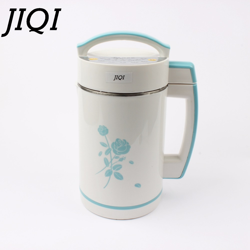 JIQI Soymilk machine Soy beans Milk Maker Stainless Steel filter-free automatic heating Stainless Steel soya-bean Milk juicer 2L