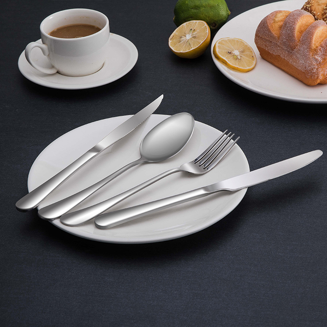 Cutlery Set 4 Pieces Tableware Stainless Steel Western Dinnerware Set Classic Dinner Set Knives Forks TeaSpoons & Cutlery Set 4 Pieces Tableware Stainless Steel Western Dinnerware ...