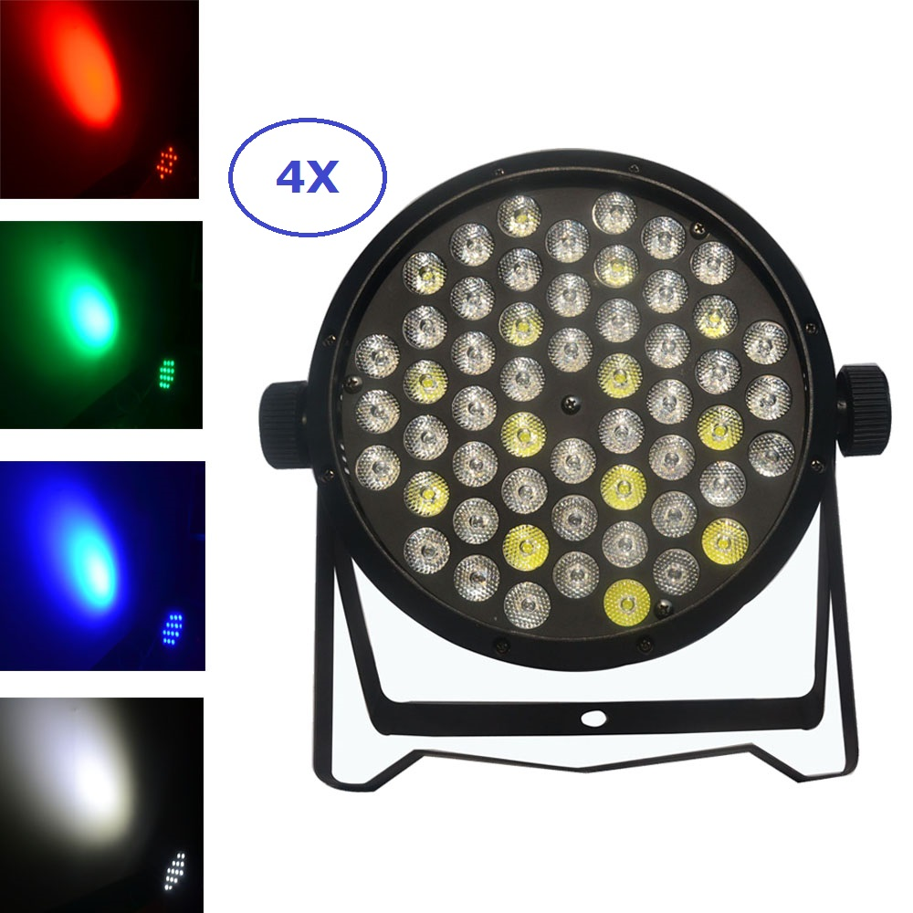 Fast Shipping LED Par Can 54Pcs RGBW LED Flat Par Light RGBW Color Mixing DJ Wash Light Stage Uplighting KTV Disco DJ DMX512 стоимость