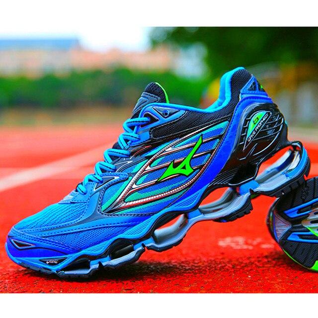 Mizuno Wave Profecia Sapatas Dos Homens Venda Quente Estável 6 Profissional Sports Running Shoes Para Os Homens Azuis Sapatos De Halterofilismo Tamanho 40 -45
