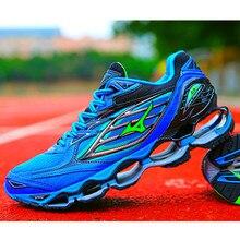 Mizuno Wave Prophecy 6 Professional Мужская обувь Лидер продаж устойчивые спортивные кроссовки для мужчин синие Тяжелая атлетика обувь Размер 40-45