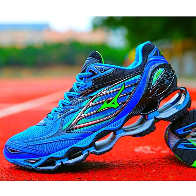 1d91374c813b Mizuno Wave Prophecy 6 Профессиональная мужская обувь Горячая Распродажа  устойчивая Спортивная беговая Обувь для мужчин синяя