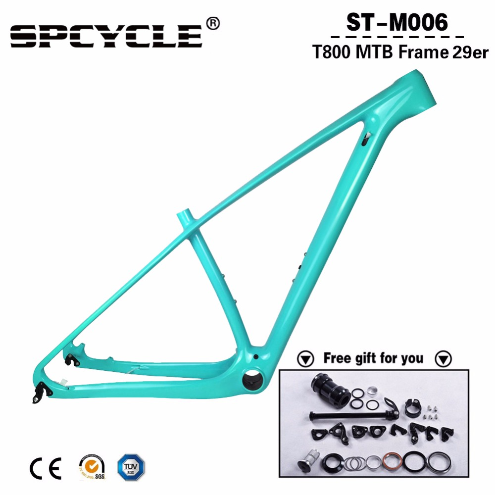 "Updated 2019 Full Carbon MTB Bicycle Frames,29er/27.5er MTB Mountain Bike Carbon Frames 15"" 17"" 19"" 21"" Thru Axle 142*12mm(China)"