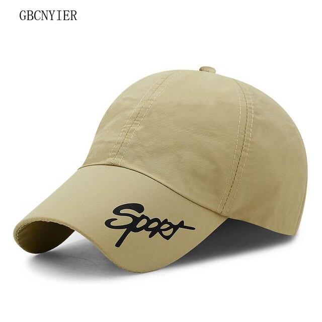f7f92c1e3cc GBCNYIER Fashion Leisure Sport Hat Young Men Run Hat Adjustable Sunscreen Baseball  Cap Women Spring Stroll Sun Hats Thin 10pcs