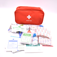 160pcs Pack Red Mini First Aid Kit Wilderness Survival Kit Medical Rescue Bag Safe Camping Hiking