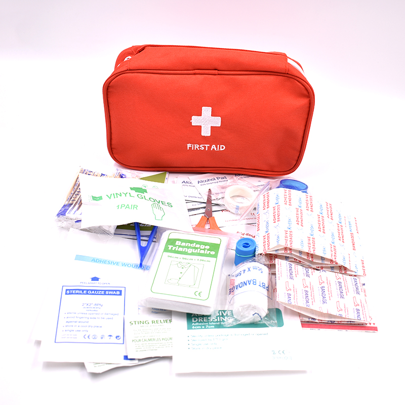 161pcs/Pack Red Mini First Aid Kit Wilderness Survival Kit Medical Rescue Bag Safe Camping Hiking Travel  Emergency First Aid handy first aid kit medical safe wilderness survival car travel first aid bag outdoors camping medical bags emergency treatment