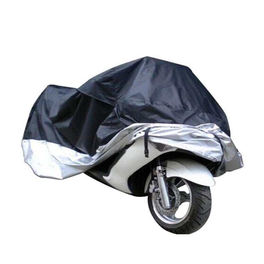 Motorcycle Waterproof Outdoor Motorbike Rain Vented Cover Extra Large Silver Oct 24 monochrome